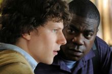 Jesse Eisenberg and Tracy Morgan
