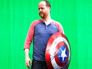 The Avengers (2012) Director Joss Whedon on set