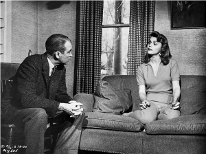 "Jimmy Stewart and Lee Remick in ""Anatomy of a Murder"""